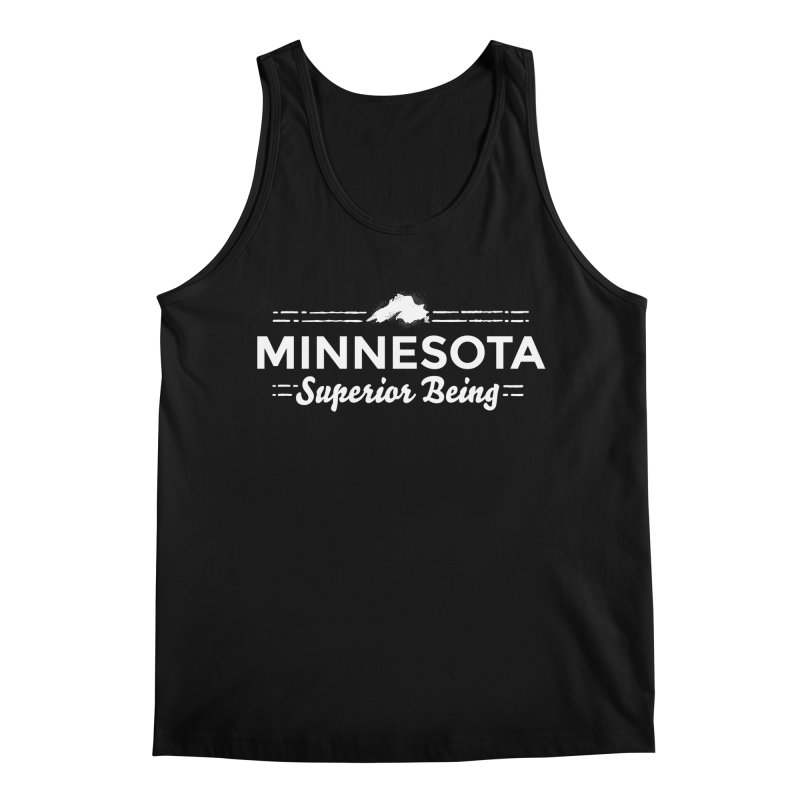 MN Superior Being (white) Men's Regular Tank by Logo Mo Doodles, Drawings, and Designs