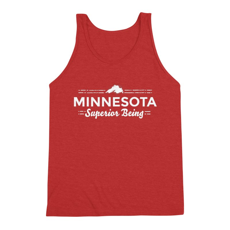 MN Superior Being (white) Men's Triblend Tank by Logo Mo Doodles, Drawings, and Designs