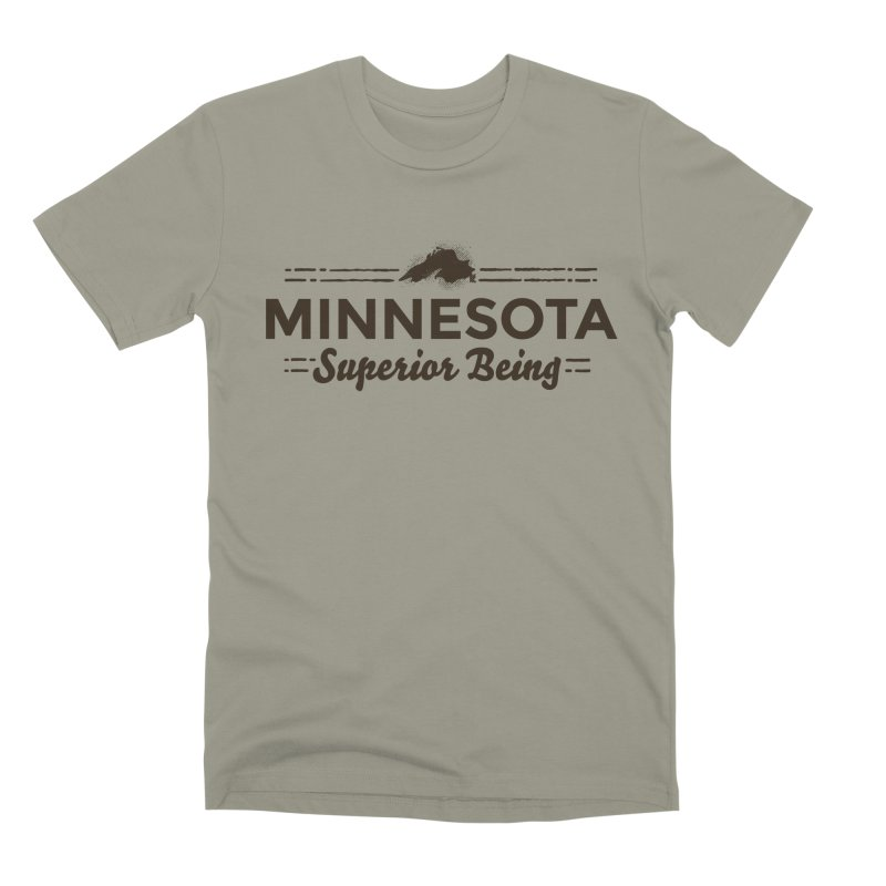 MN Superior Being (dark) Men's Premium T-Shirt by Logo Mo Doodles, Drawings, and Designs