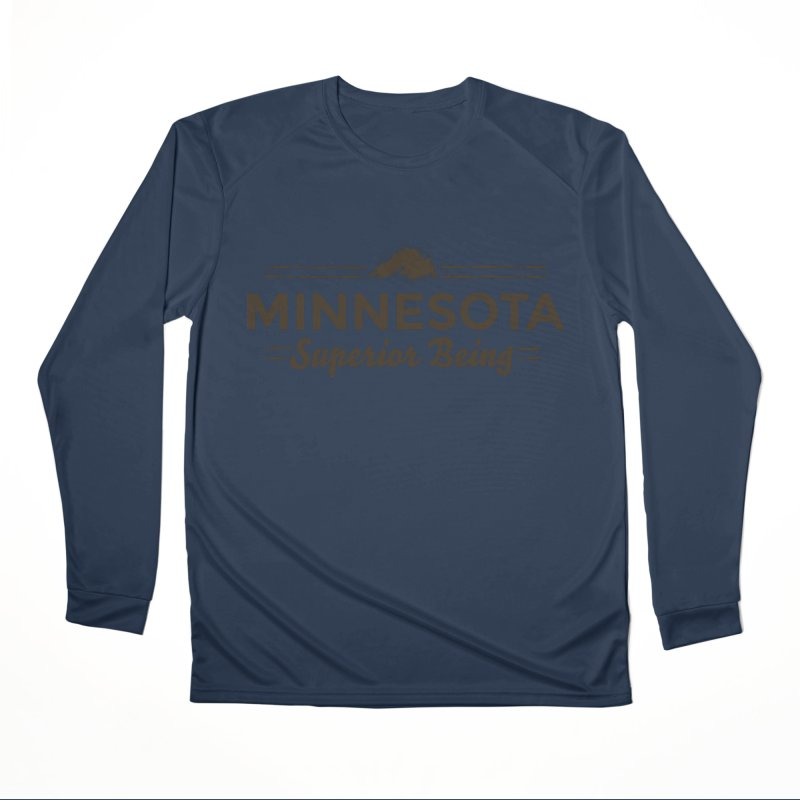 MN Superior Being (dark) Women's Performance Unisex Longsleeve T-Shirt by Logo Mo Doodles, Drawings, and Designs