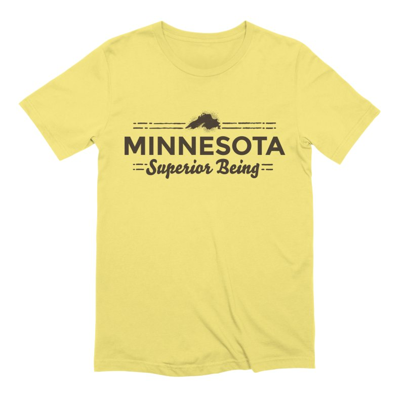 MN Superior Being (dark) Men's Extra Soft T-Shirt by Logo Mo Doodles, Drawings, and Designs