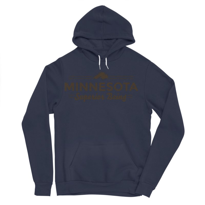 MN Superior Being (dark) Men's Sponge Fleece Pullover Hoody by Logo Mo Doodles, Drawings, and Designs