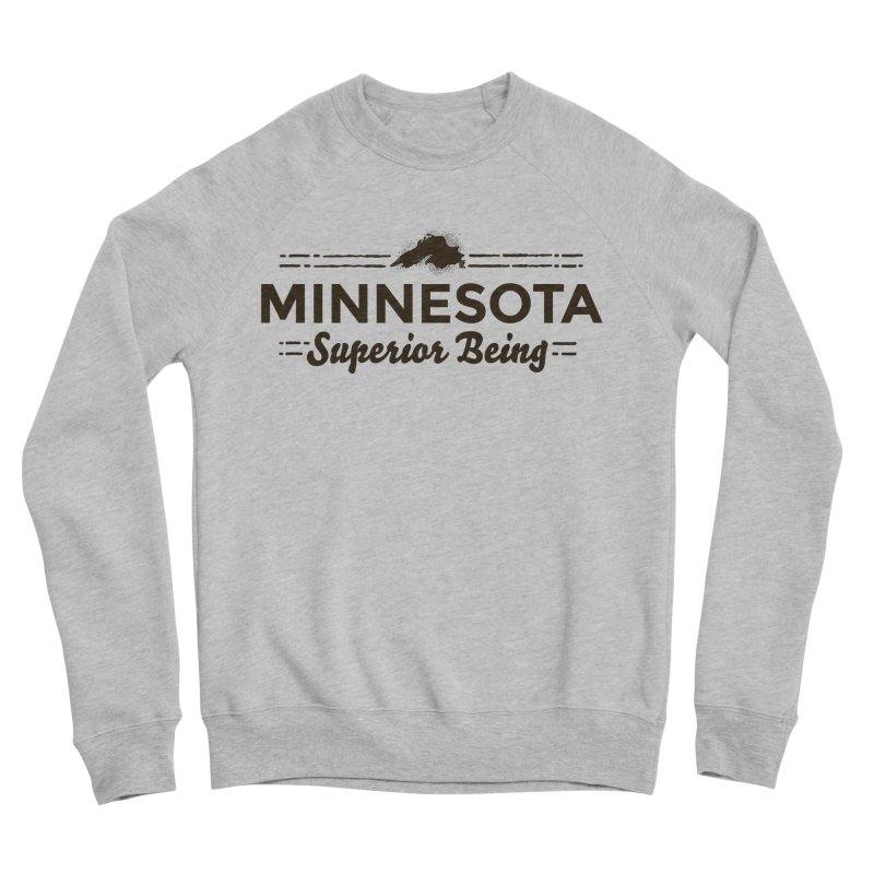 MN Superior Being (dark) Men's Sponge Fleece Sweatshirt by Logo Mo Doodles, Drawings, and Designs