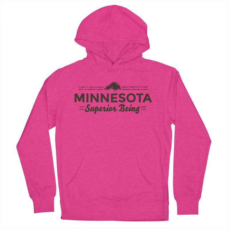 MN Superior Being (dark) Men's French Terry Pullover Hoody by Logo Mo Doodles, Drawings, and Designs