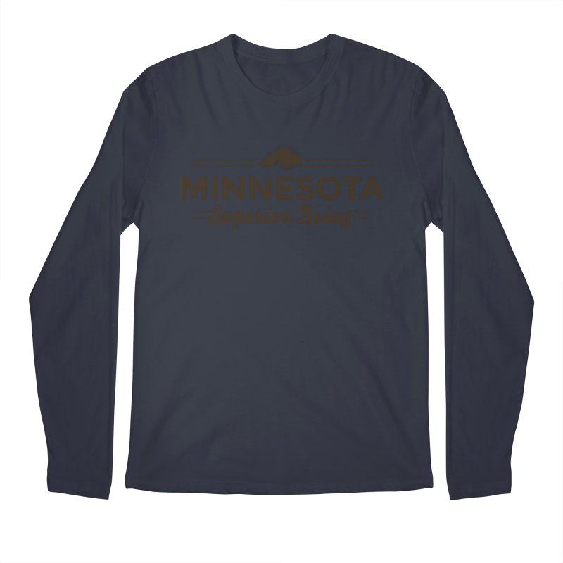 MN Superior Being (dark) Men's Regular Longsleeve T-Shirt by Logo Mo Doodles, Drawings, and Designs
