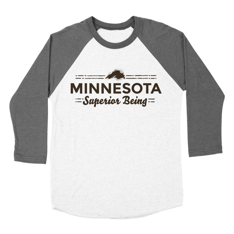 MN Superior Being (dark) Women's Baseball Triblend Longsleeve T-Shirt by Logo Mo Doodles, Drawings, and Designs