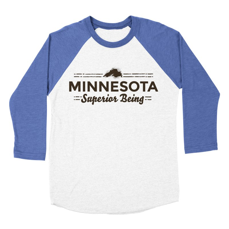 MN Superior Being (dark) Men's Baseball Triblend Longsleeve T-Shirt by Logo Mo Doodles, Drawings, and Designs