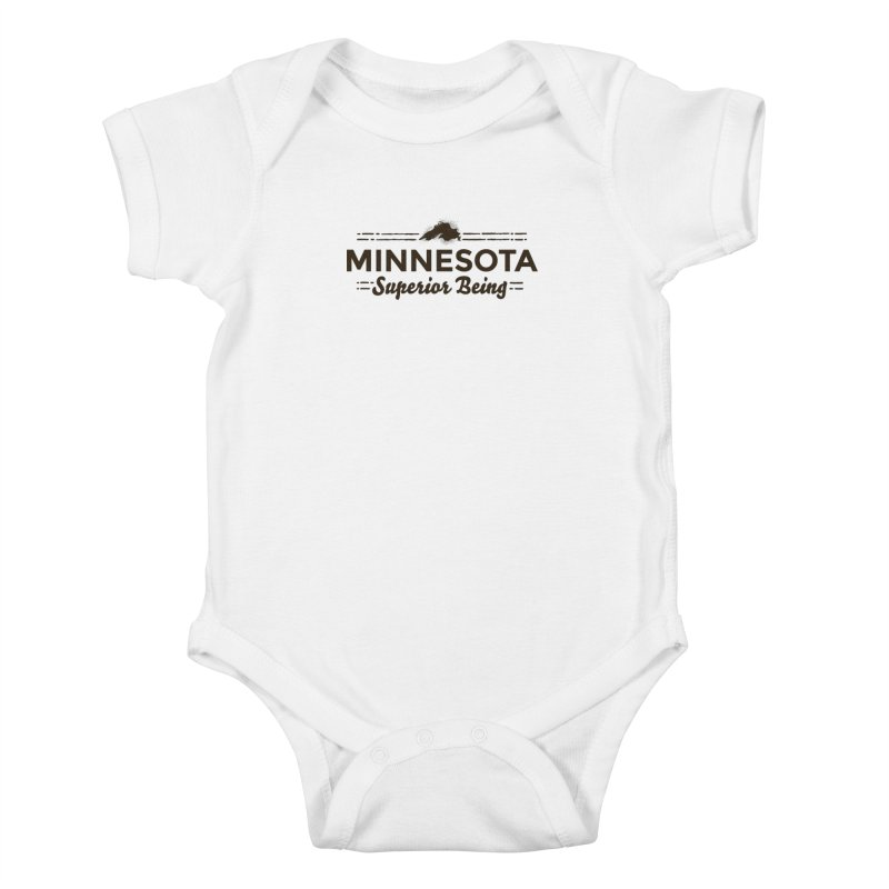 MN Superior Being (dark) Kids Baby Bodysuit by Logo Mo Doodles, Drawings, and Designs