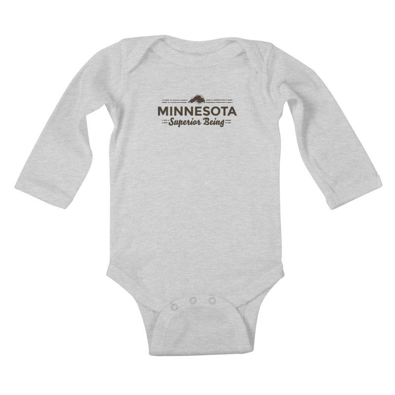 MN Superior Being (dark) Kids Baby Longsleeve Bodysuit by Logo Mo Doodles, Drawings, and Designs