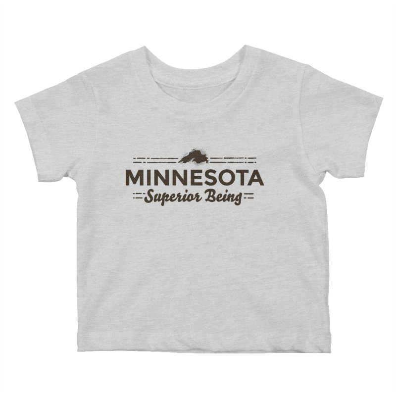 MN Superior Being (dark) Kids Baby T-Shirt by Logo Mo Doodles, Drawings, and Designs