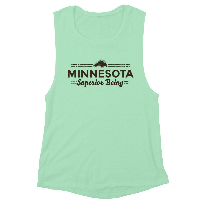 MN Superior Being (dark) Women's Muscle Tank by Logo Mo Doodles, Drawings, and Designs