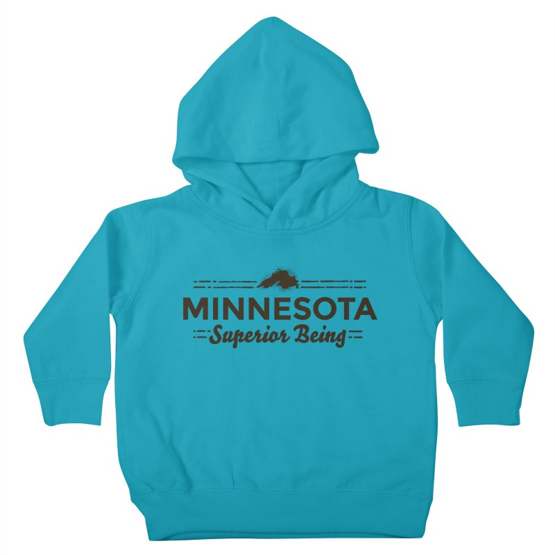 MN Superior Being (dark) Kids Toddler Pullover Hoody by Logo Mo Doodles, Drawings, and Designs