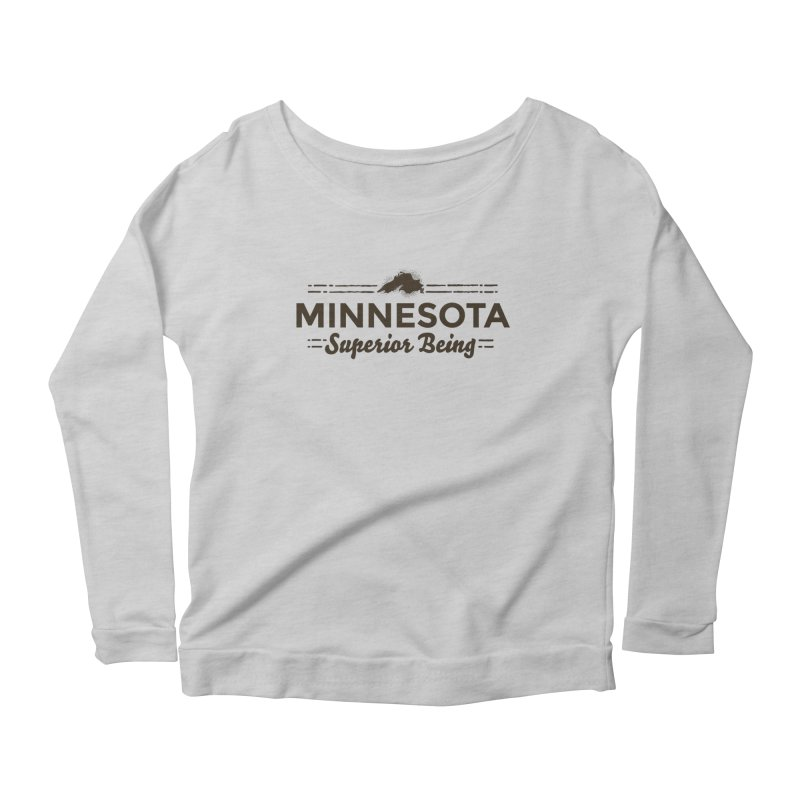 MN Superior Being (dark) Women's Scoop Neck Longsleeve T-Shirt by Logo Mo Doodles, Drawings, and Designs