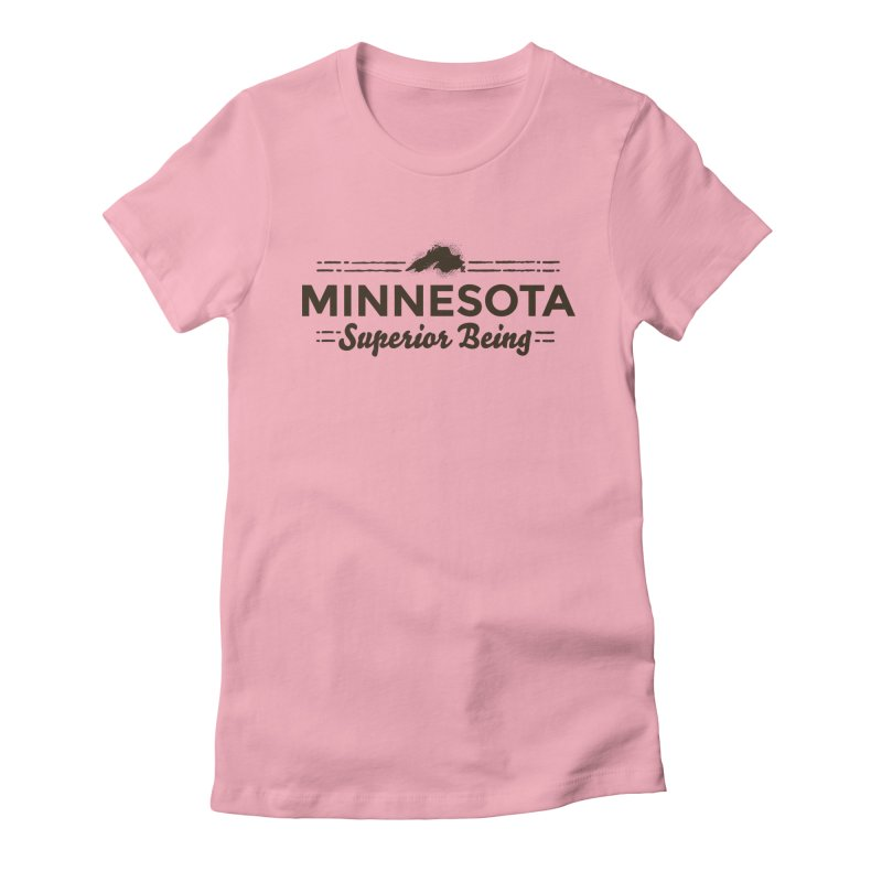 MN Superior Being (dark) Women's Fitted T-Shirt by Logo Mo Doodles, Drawings, and Designs