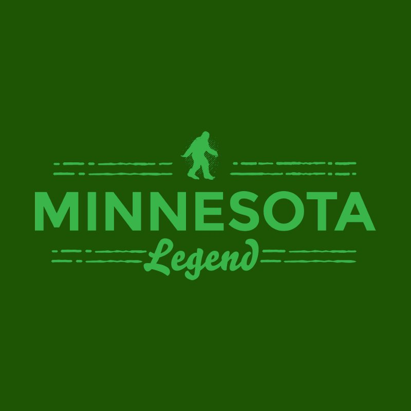 MN Lengend Sasquatch (green) Men's Sweatshirt by Logo Mo Doodles, Drawings, and Designs