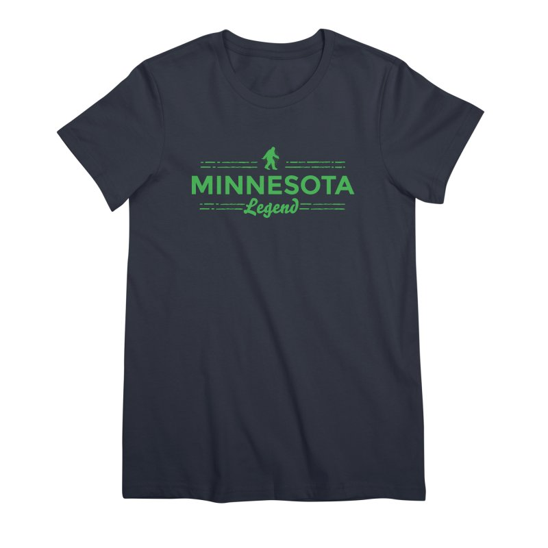 MN Lengend Sasquatch (green) Women's Premium T-Shirt by Logo Mo Doodles, Drawings, and Designs