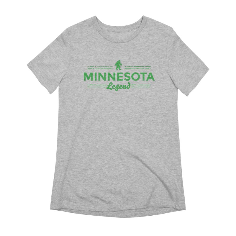 MN Lengend Sasquatch (green) Women's Extra Soft T-Shirt by Logo Mo Doodles, Drawings, and Designs