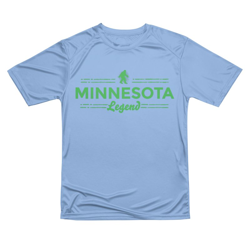 MN Lengend Sasquatch (green) Men's Performance T-Shirt by Logo Mo Doodles, Drawings, and Designs