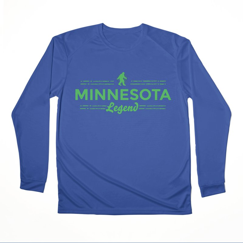 MN Lengend Sasquatch (green) Women's Performance Unisex Longsleeve T-Shirt by Logo Mo Doodles, Drawings, and Designs