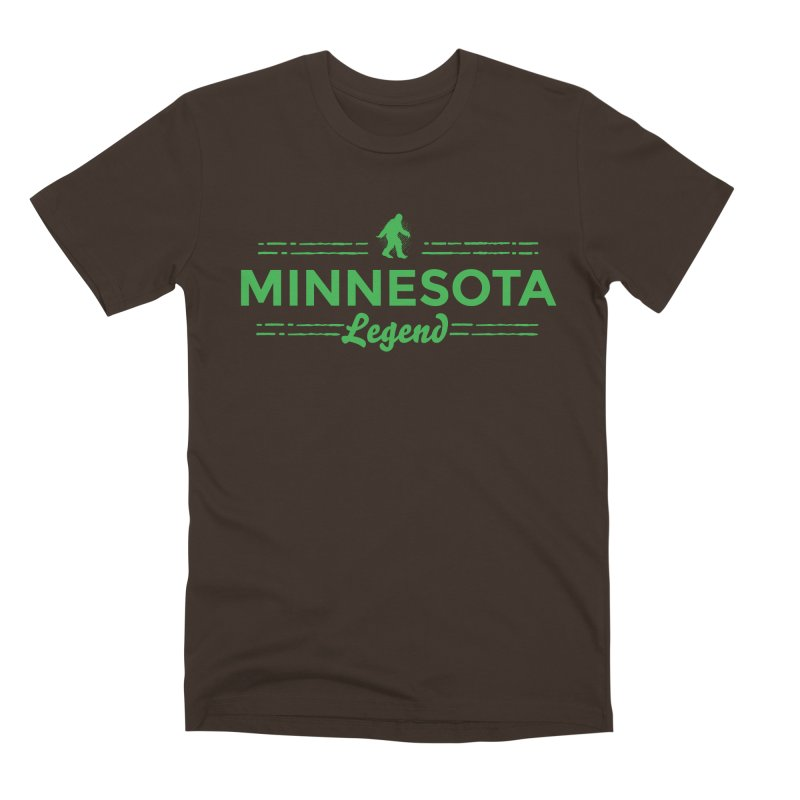 MN Lengend Sasquatch (green) Men's Premium T-Shirt by Logo Mo Doodles, Drawings, and Designs