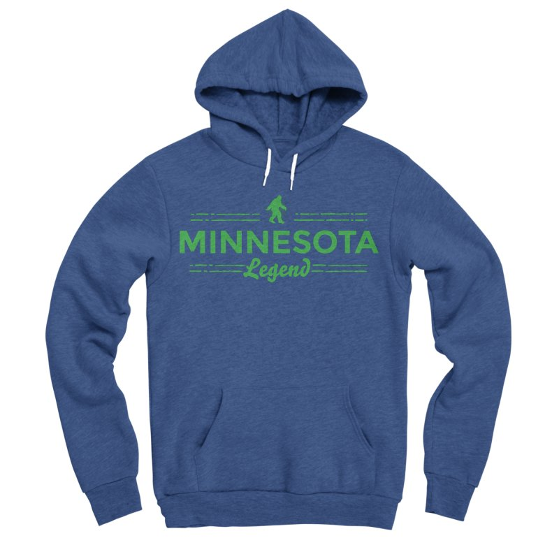 MN Lengend Sasquatch (green) Men's Sponge Fleece Pullover Hoody by Logo Mo Doodles, Drawings, and Designs