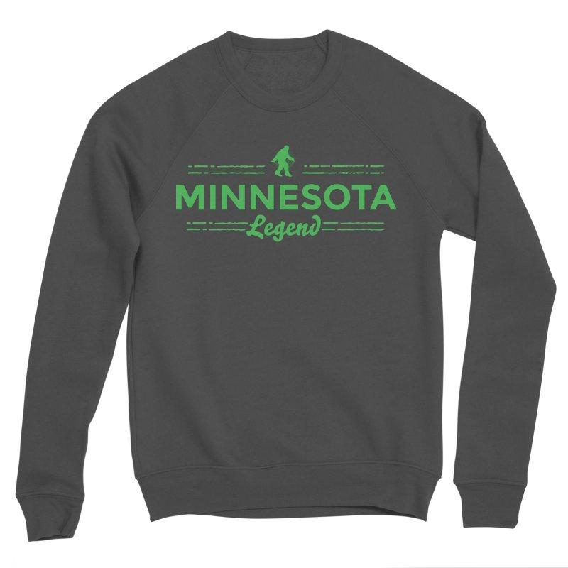 MN Lengend Sasquatch (green) Women's Sponge Fleece Sweatshirt by Logo Mo Doodles, Drawings, and Designs