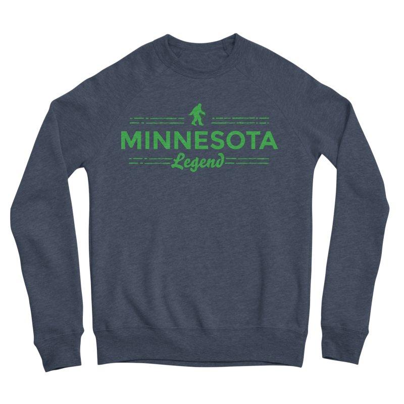 MN Lengend Sasquatch (green) Men's Sponge Fleece Sweatshirt by Logo Mo Doodles, Drawings, and Designs