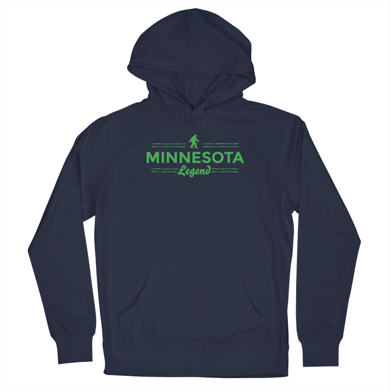 MN Lengend Sasquatch (green) Men's Pullover Hoody by Logo Mo Doodles, Drawings, and Designs