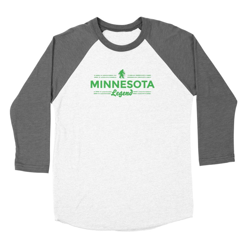 MN Lengend Sasquatch (green) Men's Baseball Triblend Longsleeve T-Shirt by Logo Mo Doodles, Drawings, and Designs