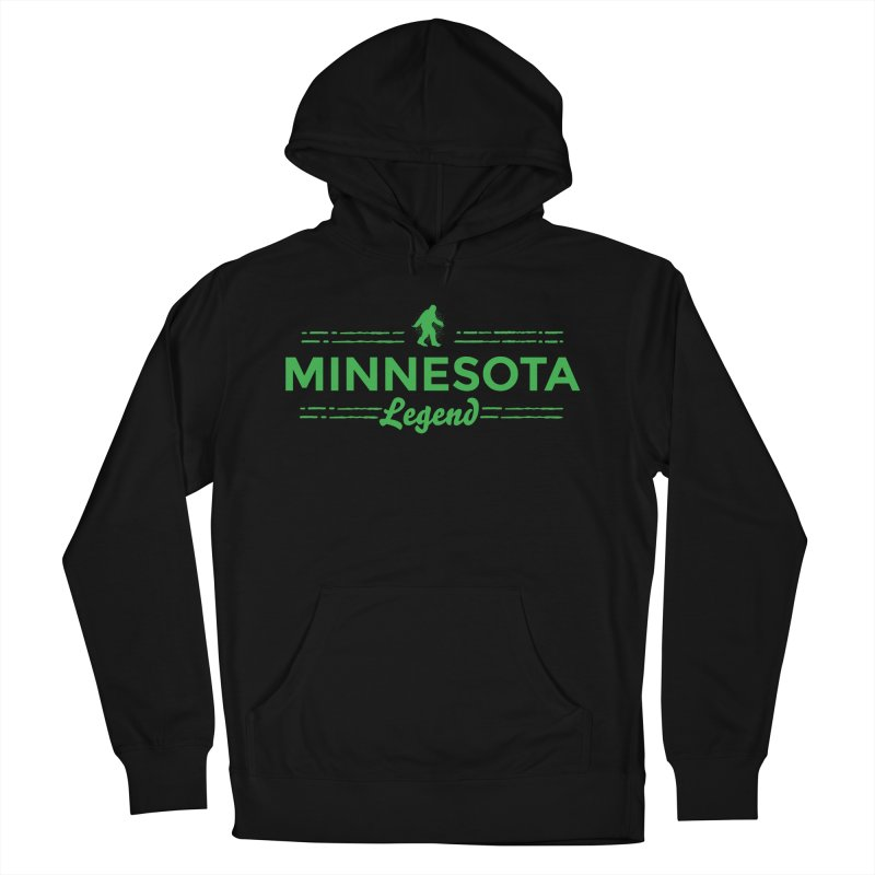 MN Lengend Sasquatch (green) Women's French Terry Pullover Hoody by Logo Mo Doodles, Drawings, and Designs