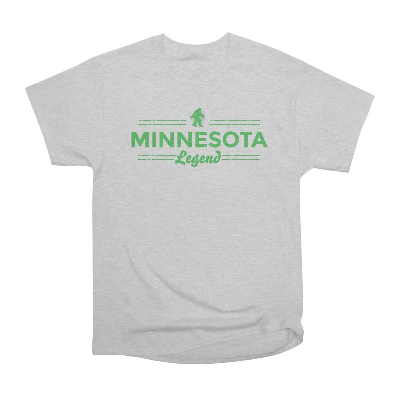 MN Lengend Sasquatch (green) Women's Heavyweight Unisex T-Shirt by Logo Mo Doodles, Drawings, and Designs