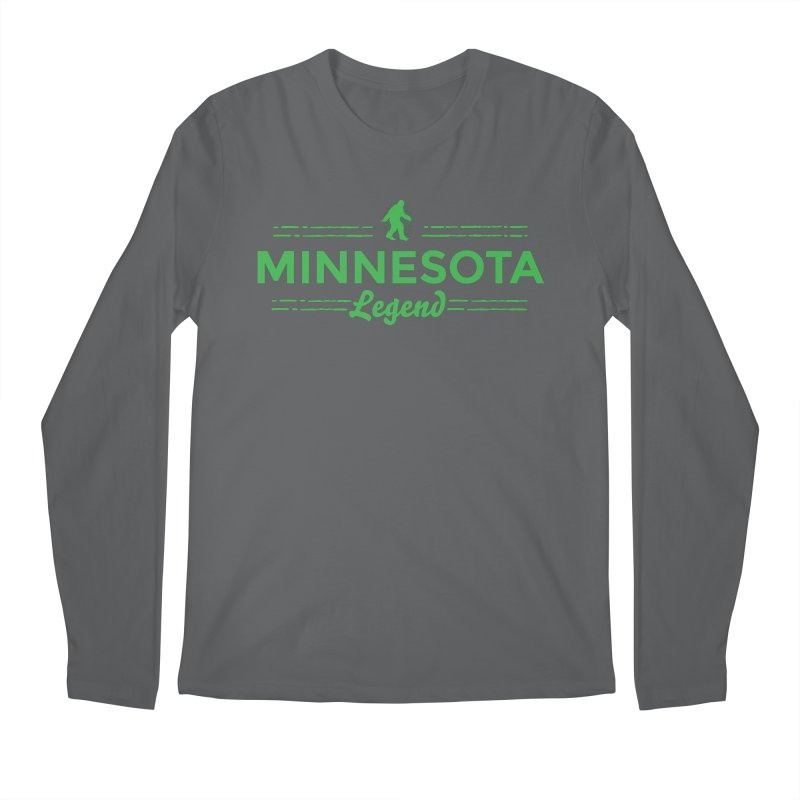 MN Lengend Sasquatch (green) Men's Longsleeve T-Shirt by Logo Mo Doodles, Drawings, and Designs