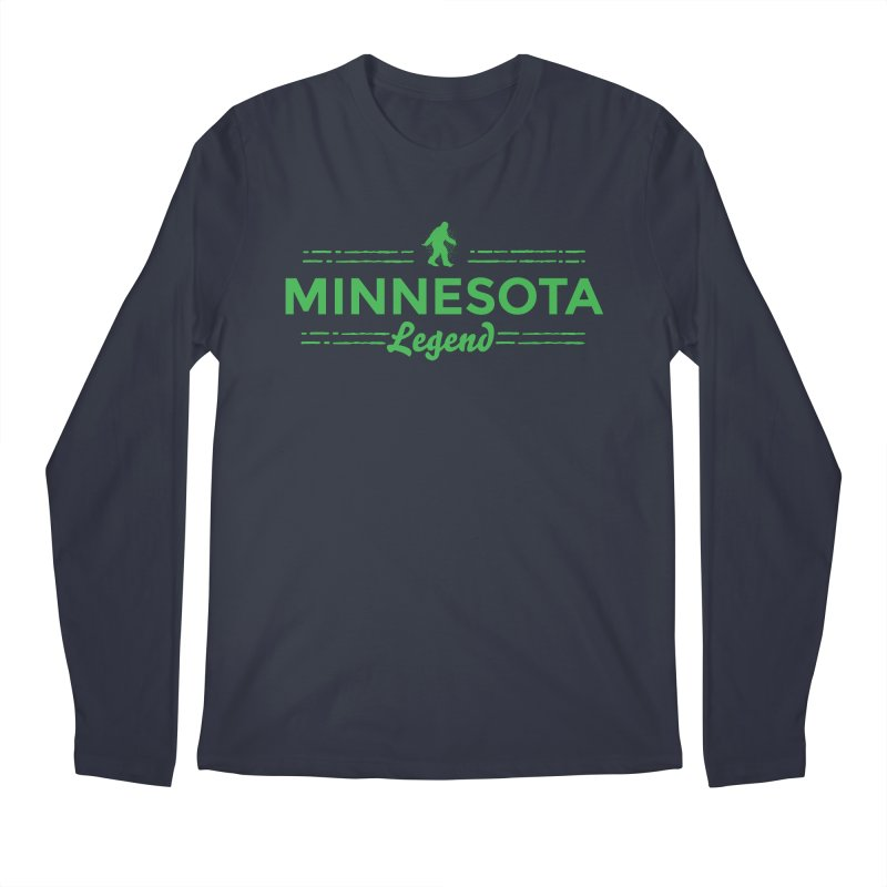 MN Lengend Sasquatch (green) Men's Regular Longsleeve T-Shirt by Logo Mo Doodles, Drawings, and Designs
