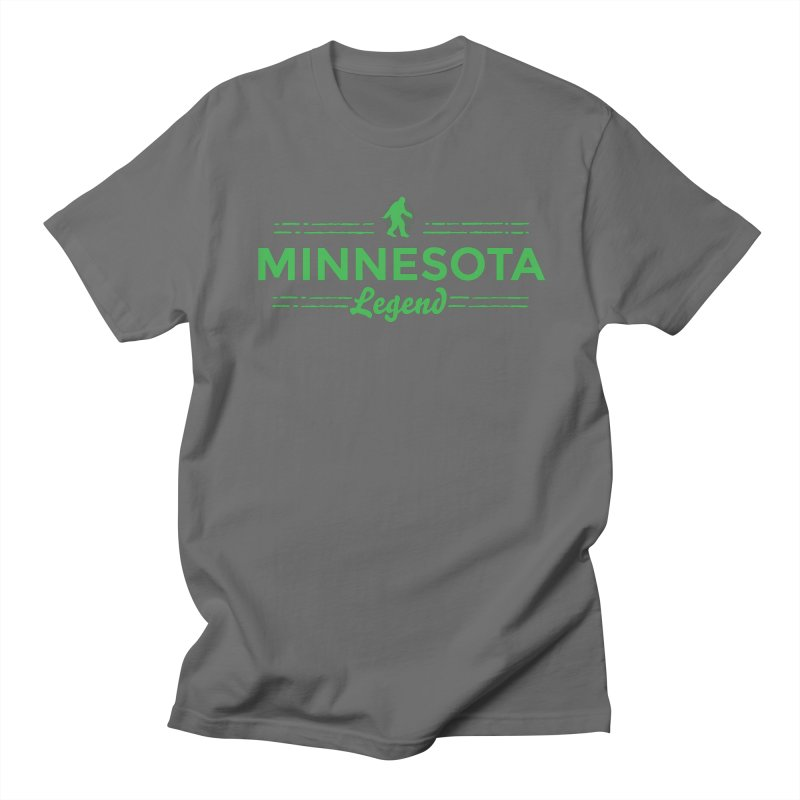 MN Lengend Sasquatch (green) Men's T-Shirt by Logo Mo Doodles, Drawings, and Designs