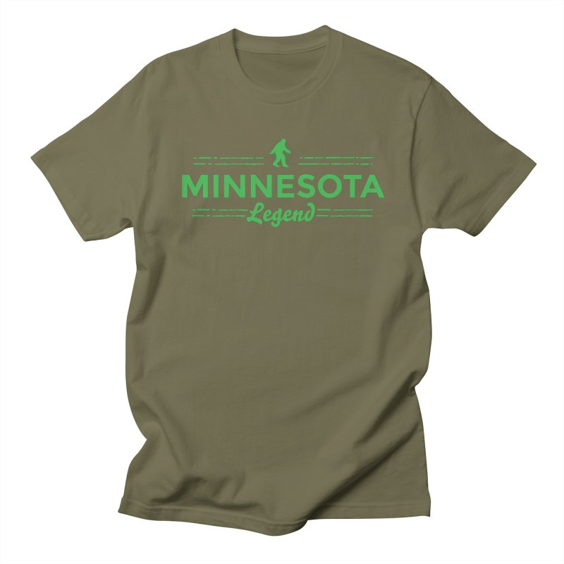 MN Lengend Sasquatch (green) Women's Regular Unisex T-Shirt by Logo Mo Doodles, Drawings, and Designs