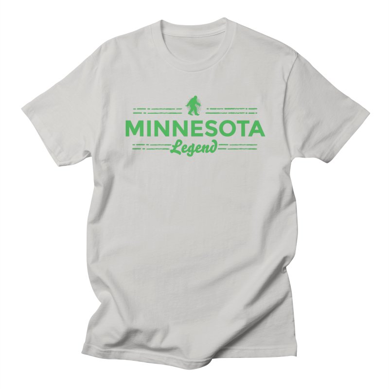MN Lengend Sasquatch (green) Men's Regular T-Shirt by Logo Mo Doodles, Drawings, and Designs