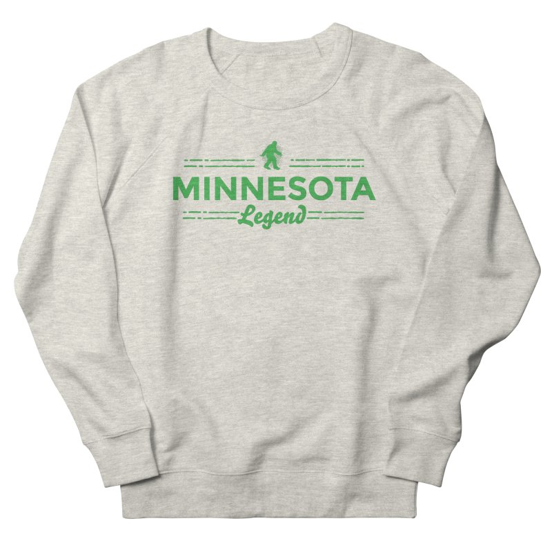 MN Lengend Sasquatch (green) Women's French Terry Sweatshirt by Logo Mo Doodles, Drawings, and Designs