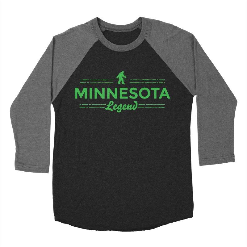MN Lengend Sasquatch (green) Women's Baseball Triblend Longsleeve T-Shirt by Logo Mo Doodles, Drawings, and Designs