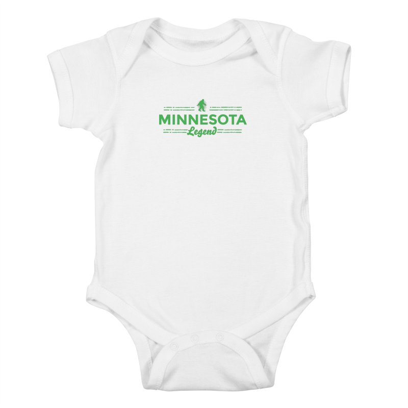 MN Lengend Sasquatch (green) Kids Baby Bodysuit by Logo Mo Doodles, Drawings, and Designs