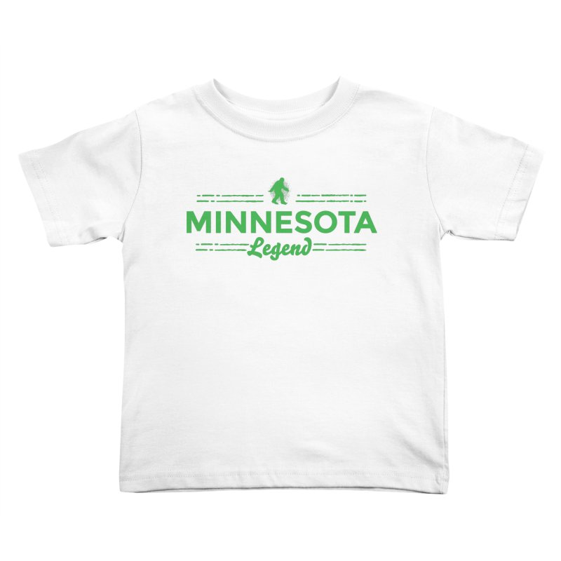 MN Lengend Sasquatch (green) Kids Toddler T-Shirt by Logo Mo Doodles, Drawings, and Designs