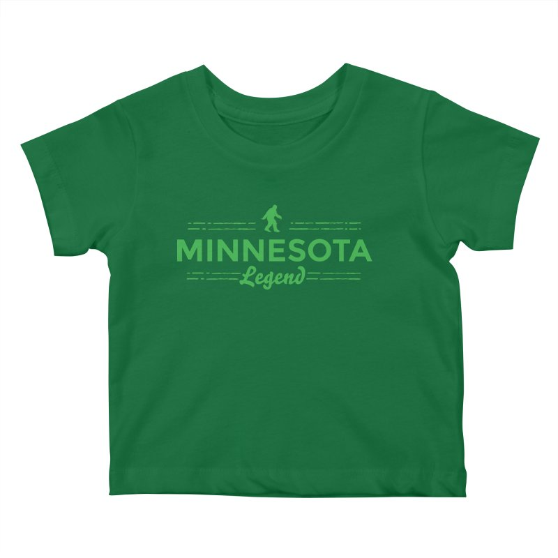 MN Lengend Sasquatch (green) Kids Baby T-Shirt by Logo Mo Doodles, Drawings, and Designs