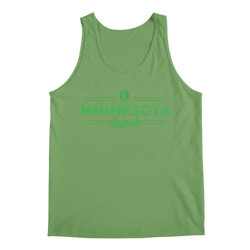 MN Lengend Sasquatch (green) Men's Tank by Logo Mo Doodles, Drawings, and Designs