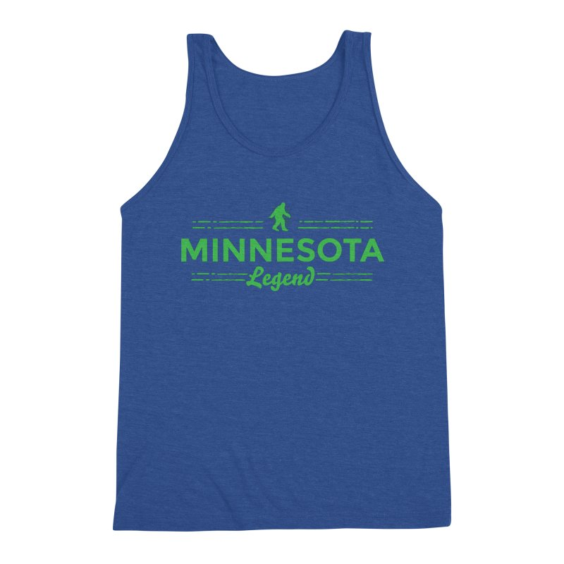 MN Lengend Sasquatch (green) Men's Triblend Tank by Logo Mo Doodles, Drawings, and Designs