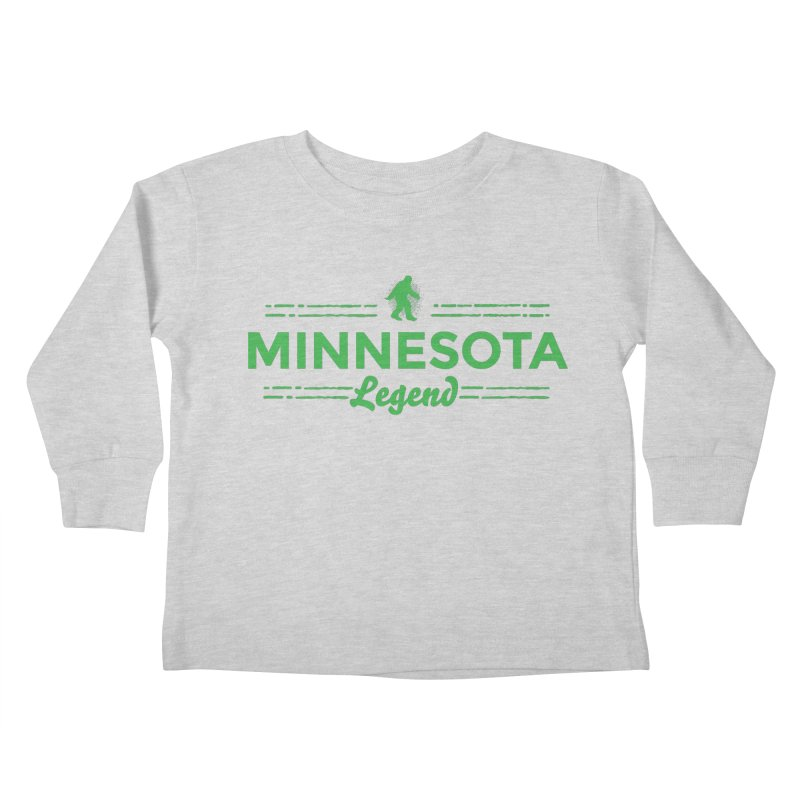 MN Lengend Sasquatch (green) Kids Toddler Longsleeve T-Shirt by Logo Mo Doodles, Drawings, and Designs