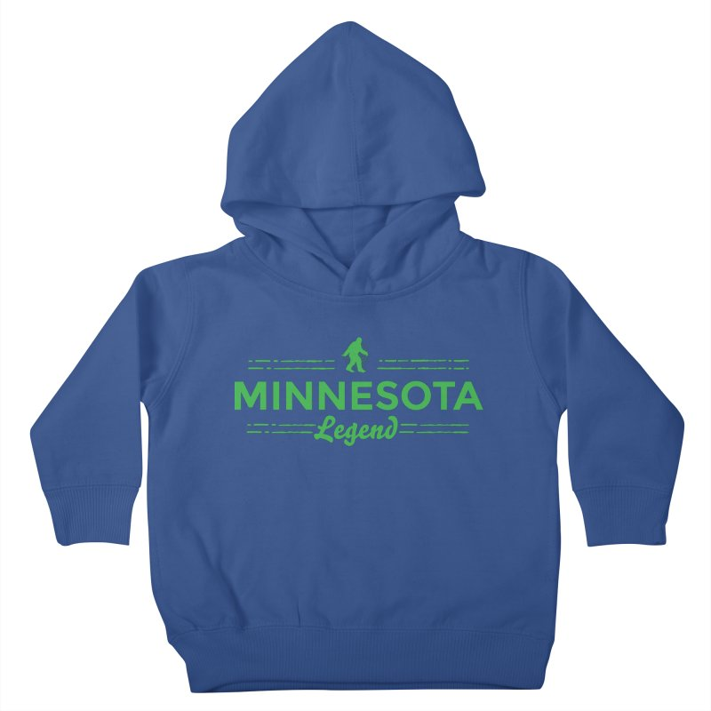 MN Lengend Sasquatch (green) Kids Toddler Pullover Hoody by Logo Mo Doodles, Drawings, and Designs