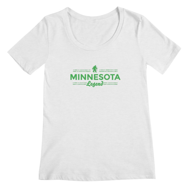 MN Lengend Sasquatch (green) Women's Regular Scoop Neck by Logo Mo Doodles, Drawings, and Designs