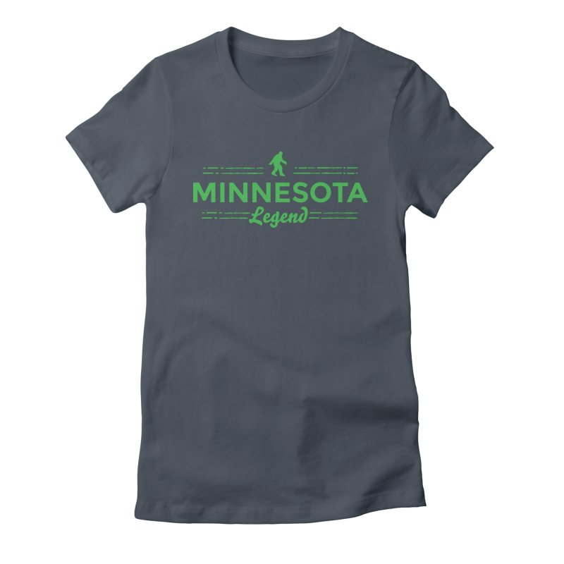 MN Lengend Sasquatch (green) Women's T-Shirt by Logo Mo Doodles, Drawings, and Designs
