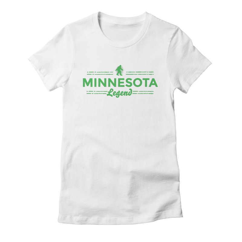 MN Lengend Sasquatch (green) Women's Fitted T-Shirt by Logo Mo Doodles, Drawings, and Designs