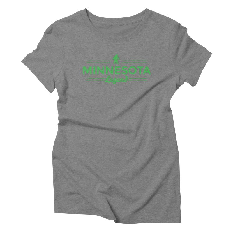 MN Lengend Sasquatch (green) Women's Triblend T-Shirt by Logo Mo Doodles, Drawings, and Designs