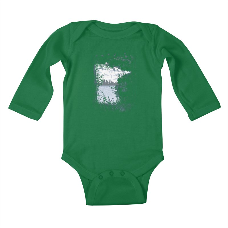 MN Hidden Treasures Kids Baby Longsleeve Bodysuit by Logo Mo Doodles, Drawings, and Designs